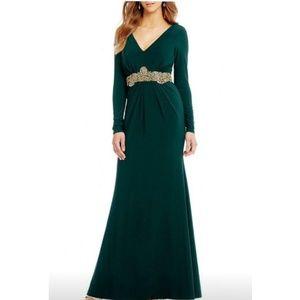 Stunning Hunter Green Evening Dress